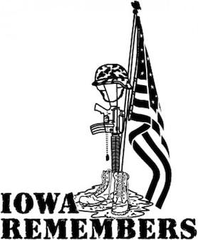 Iowa se lembra, a imagem militar