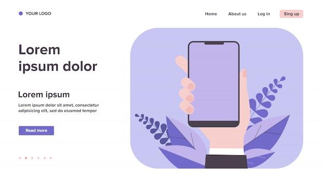 Iphone na mão ilustração