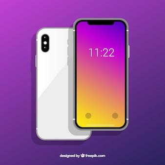 Iphone x com papel de parede gradiente