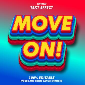 Ir em frente! efeitos de texto