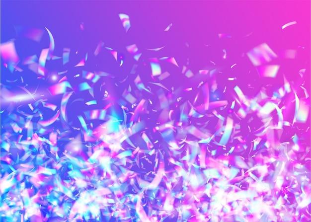 Iridescent sparkles. arte digital. fiesta foil. banner retro. ilustração de natal brilhante. textura bokeh. violet laser glare. fundo de queda. brilhos azuis iridescentes