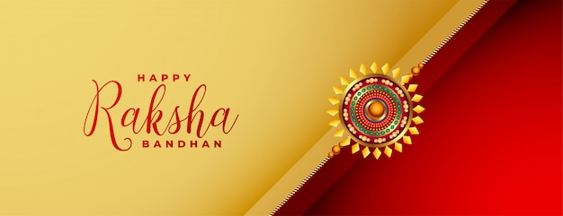 Irmão e irmã raksha bandhan banner do festival