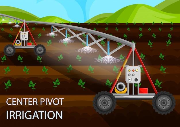 Irrigação por pivô central