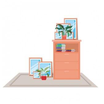 Isolado, mobília, ilustração