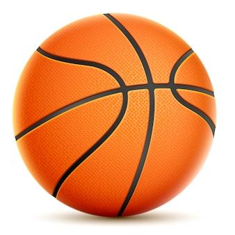 Isolado no basquetebol alaranjado branco.