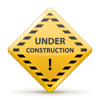 Isolado sob a placa de construção