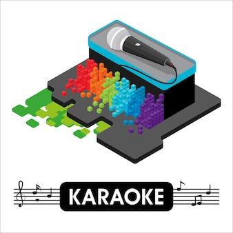 Isometric karaoke microphon.
