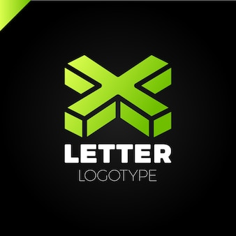 Isometric letter x logo icon design templates elements