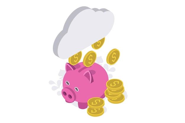 Isometric rainy day fund