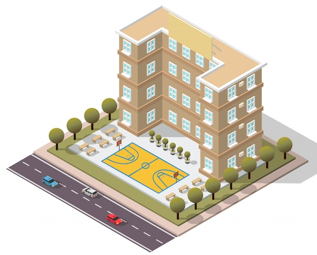 Isometric school university