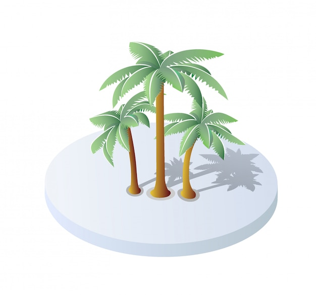 Isométrica 3d ilustração árvore floresta natureza elementos