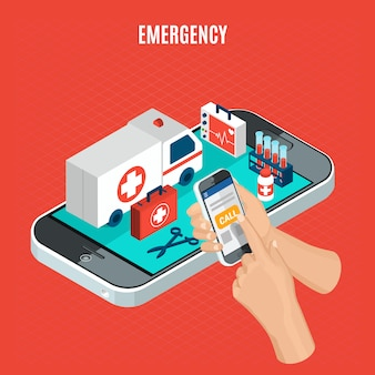Isométrica de emergência