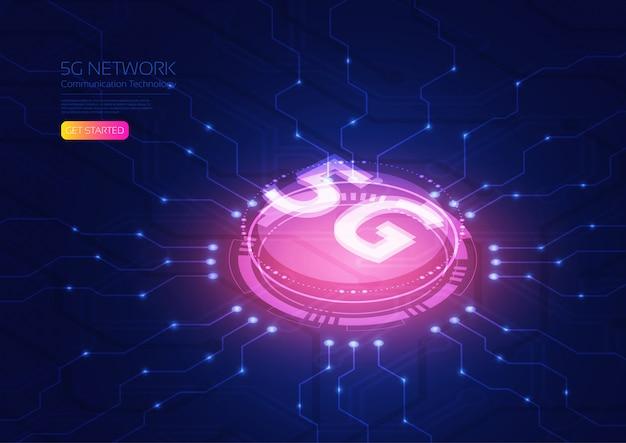 Isométrica de tecnologia 5g
