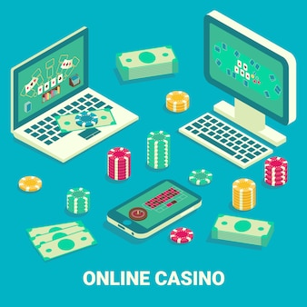 Isométrica plana de casino online