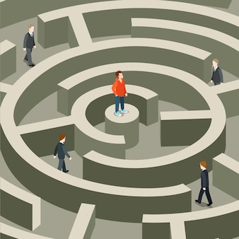 Isométrica plana de negócios profissional de vida