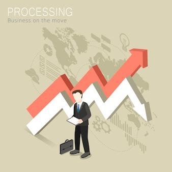 Isométrico do conceito de processamento