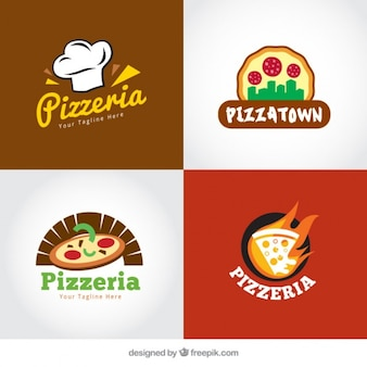 Italiano pacote logos restaurante