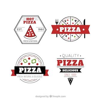 Italianos labels pizza retro