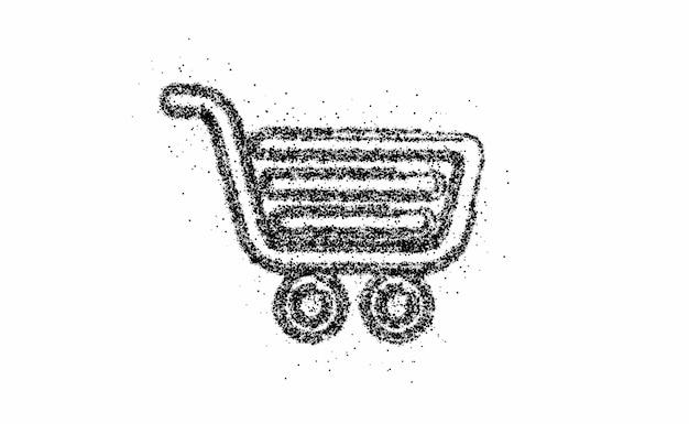 Item de carrinho de compras de partículas - design de carrinho de compras de botões de compra