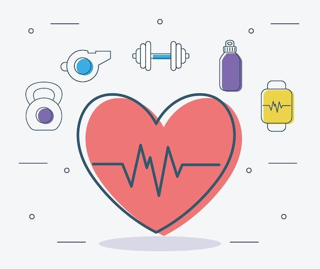 Itens de coração e condicionamento físico