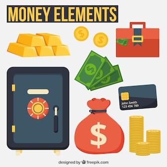 Itens de dinheiro e cofre