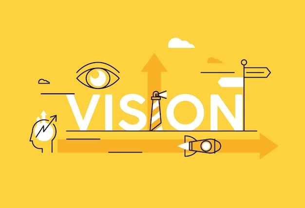 Itens de negócios de visão