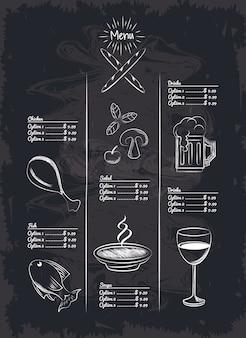 Itens do restaurante menu