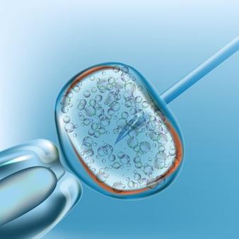 Ivf. inseminação artificial. design realista 3d