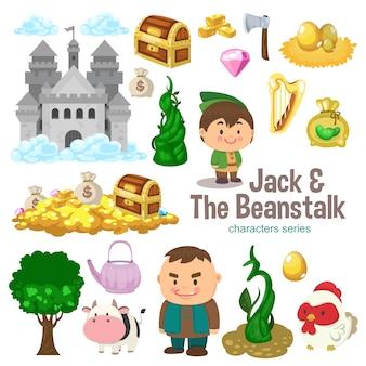 Jack e a série de personagem beanstalk