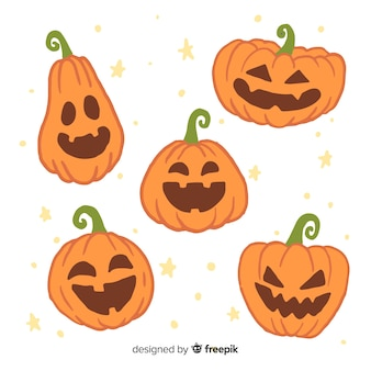 Jack o lantern abóbora fofa pálida para o halloween