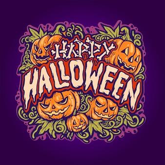 Jack o'lantern ilustração de halloween