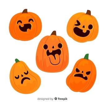 Jack o lanterna engraçado halloween abóbora