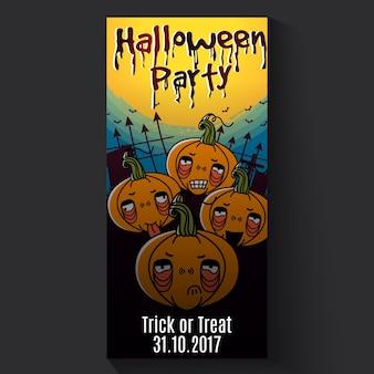 Jack pumpkin head banner