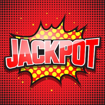 Jackpot. balão de quadrinhos