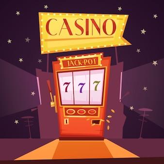 Jackpot slot machine ilustração
