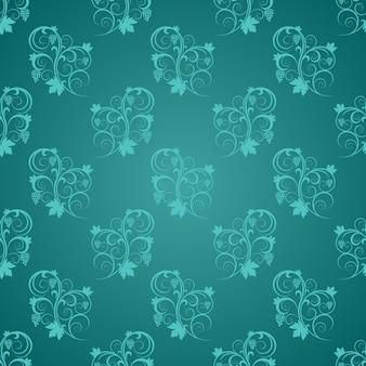 Jade com light blue ornamental swirl centered tiffany