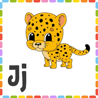 Jaguar alfabeto flashcard