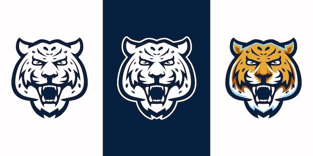 Jaguar cabeça três versões coloridas