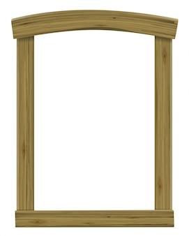 Janela antiga de madeira ou arco da moldura da porta