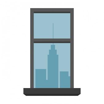 Janela com vista da paisagem urbana