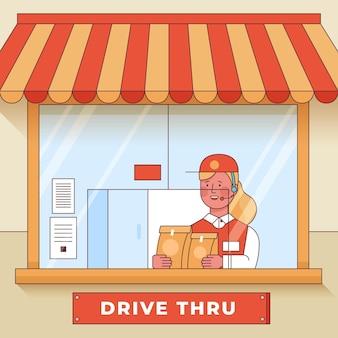Janela de condução ilustrada