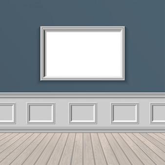 Janela de parede e piso de madeira