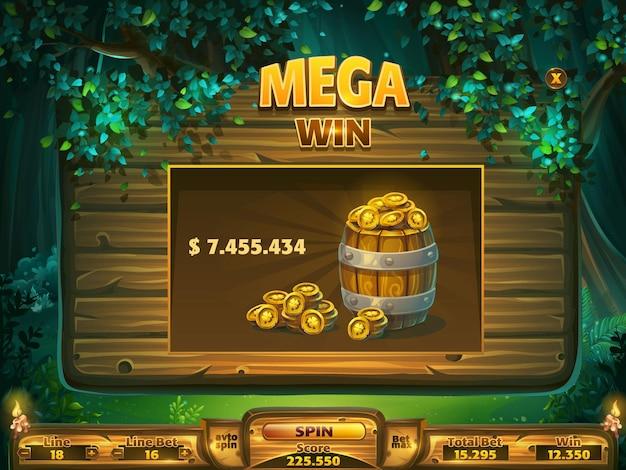 Janela de vitória do campo de jogo para interface de usuário do jogo.
