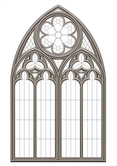 Janela de vitral medieval gótico