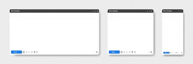 Janela do navegador. navegador da web em estilo simples. conceito de janela do navegador internet. ilustração.
