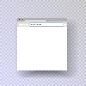 Janela do navegador. navegador de modelos. navegador mac. links da cadeia de entrada.