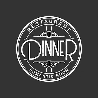 Jantar logotipo vintage
