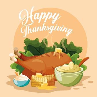 Jantar na turquia no dia de ação de graças