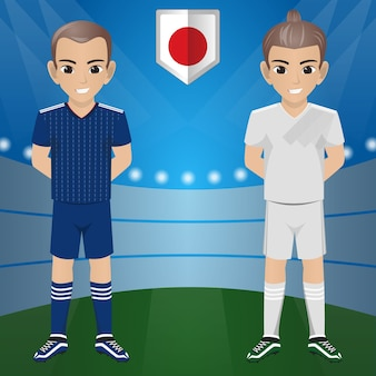 Japan football eam nacional para torneio internacional