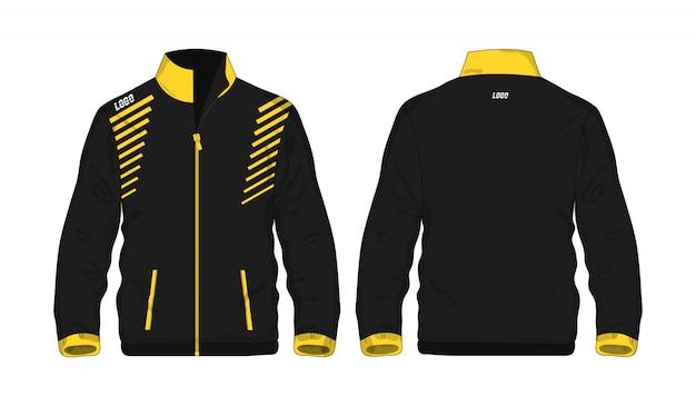 Jaqueta esporte amarelo e preto ilustração t